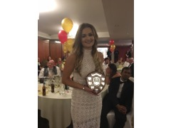 Imogen Manning with her award for Senior Female Player of the Year